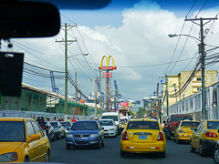 photo - Golden Arches, Colon (Jassy-50) Tags: street car photo taxi mcdonalds panama telephonepole telephonewires colon goldenarches