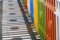 rimini 2016 (giobbe pablito) Tags: shadow italy abstract beach colors fence rimini minimal 2016