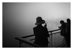 Passing Mists. (Mikec77) Tags: bw mist cruising smoking cigarettes enteringharbour