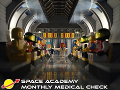 Space Academy - Monthly Medical Check (justin_m_winn) Tags: classic lego space academy brickstuff
