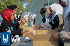 Islamic Relief USA volunteers pack hygiene kits for Day of Dignity in D.C.