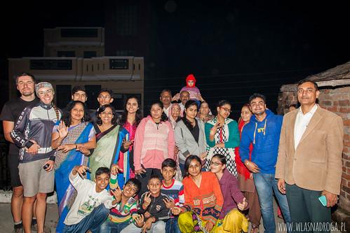 Zdjęcie z rodziną z Kanpur
