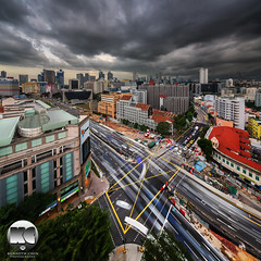 Storm Cloud Approach (kenneth chin) Tags: city storm architecture yahoo google nikon singapore asia nikkor rochor verticalpanorama digitalblending d810 theverge albertcourthotel 1424f28g