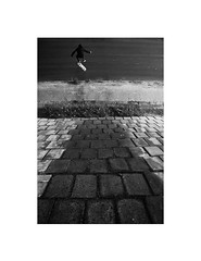 (Marek Pupk) Tags: street city blackandwhite white black classic film monochrome composition contrast analog 35mm canon photography photo europe strada skateboarding image outdoor central picture documentary skate skateboard slovakia trick bianco nero a2 bianconero duetone canon5