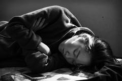 R.E.M. (Sacule) Tags: light sleeping portrait blackandwhite sun blancoynegro girl beautiful canon asia quiet sleep retrato dream peaceful naturallight korean busan cousin southkorea rem sueo 600d sigma1770