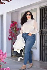 GWC_5801 (GirlWithCurves) Tags: flats curlyhair plussize highneckblouse highwaistjeans skinnyjeands taneshaawasthi