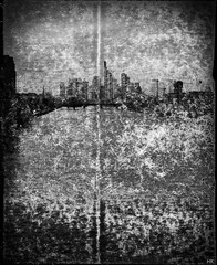 Skyline (*altglas*) Tags: bw 120 6x6 film monochrome skyline analog zeiss mediumformat frankfurt main expired expiredfilm superikonta tessar mittelformat 53316 svema svema250