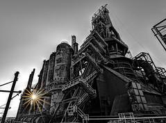 Goodbye to the machine (Jersey JJ) Tags: bw mill industry industrial steel pa d750 furnace bethlehem blast hdr rustyandcrusty