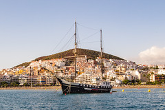 Let the journey begin (Marua erjal) Tags: travel sea ship hill transport journey tenerife canaryislands
