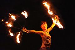 FIRE DANCER, THAILAND (dayvmac) Tags: firedancer fire dance thailand thaidancer