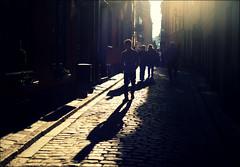 Backlit street (*Kicki*) Tags: street shadow people backlight sweden stockholm candid gamlastan backlit