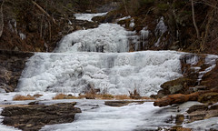 Mostly Frozen (vbd) Tags: winter ice water frozen waterfall pentax connecticut newengland ct handheld k3 2016 kentfallsstatepark vbd smcpentaxda55300mmf458ed