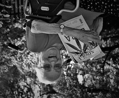 Keep laughing! (Mango*Photography) Tags: grandma blackandwhite art photography humor down shades laugh cannabis upside hemp giuliabergonzoni giuliabergonzoniphotography