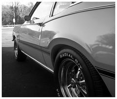 '72 Comet (daveelmore) Tags: bw panorama car blackwhite automobile mercury hotrod vehicle 1972 comet musclecar mercurycomet stitchedpanorama cragarss lumixleicadgsummilux25mm114 spinnercaps