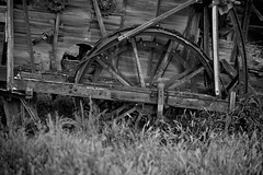 Wheels of industry (Marc Briggs) Tags: abandoned wheel wheels machine gears wagonwheel thresher carrizoplain abandonedfarm carrizoplainnationalmonument dsc6634bw