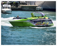 Sydney Harbour Jet Boat. (TOXTETH L8) Tags: water speed australia tourists spray sydneyharbour watertaxi soaking injuries thrillseekers brokenbacks jetboats