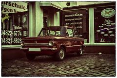 NSU Prinz (fotodesignscherlack) Tags: auto car sepia 50mm nikon retro oldtimer verkehr youngtimer d600 kopfsteinpflaster kfz strasen nsuprinz nikond600 fotodesignscherlack scherlack wwwfotodesignscherlackcom