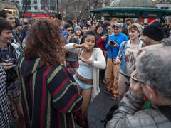 Pantless Sunday 07. (rockerlan) Tags: new york nyc people urban subway square downtown pants manhattan no union sunday perspectives olympus pantless lifestyles em5