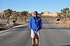On a Natural High Being One With Nature (Blue Rave) Tags: joshuatree joshuatreenationalpark park bloke dude guy male mate people trees road vanishingpoint nature openroad blue thecolorblue color colour self myself ego me 2016 smile smiling happy shorts jtnp hike hiking sweatshirt bluejacket jacket greatsmiles smiles ontheroad walk california ca walking