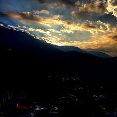 Teasing Rays Of Dawn (Sahir Dhinojwala) Tags: india mountains clouds sunrise dawn mornings mcleodganj himachalpradesh littletibet thehimalayas iphoneography
