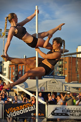 Pole dancing (sjarvinen) Tags: girls people female women dancing outdoor pole entertainment entertainers