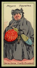 Cigarette Card - Sairey Gamp (cigcardpix) Tags: vintage advertising ephemera dickens cigarettecards