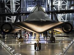 Lockheed SR-71 Blackbird (chaseyyz) Tags: usa canon airplane smithsonian aviation titanium usaf blackbird sr71 airandspacemuseum sr71blackbird udvarhazy
