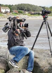 Wildlife photographer (D R Swift) Tags: photographer dee wirral westkirby wildlifephotographer wadingbirds deeestuary