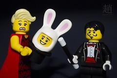 Magic Bunny (mikechiu86) Tags: rabbit bunny hat out lego magic mascot series skater trick collectible flamenco magician minifigures