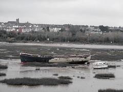 Shipshape Red - DSCF9330 (Welsh Scrum Half) Tags: bw southwales blackwhite seascapes barry glamorganshire barryisland bristolchannel fujis7000 steepholmisland southwalesbeaches