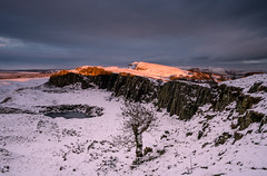 Last Light On The Wall (.Brian Kerr Photography.) Tags: winter light snow cold availablelight northumberland cumbria snowing hadrianswall briankerrphotography sonyuk wwwbriankerrphotographycom a7rii