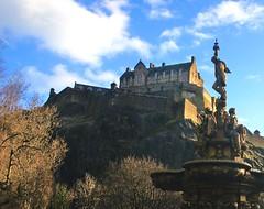 Castle & Fountain (NikWatt) Tags: scotland edinburgh edinburghcastle sony sigma handheld fountains rossfountain greatcolors greatscots edinburghphotographers nikwatt windowslivephoto sonya580