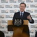 David Cameron delivers a speech on prison reform in Westminster, following a visit earlier on in the day, to HMP Onley.