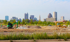 Before the View is Gone (Eridony) Tags: columbus ohio skyline underconstruction italianvillage franklincounty jefferypark