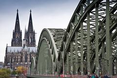 Hohenzollen Bridge (ClydeHouse) Tags: germany cathedral dom gothic cologne koln byandrew hohenzollernbridge kolnerdom unescoworldhertitagesite hohedomkirchestpetrus highcathedralofsaintspeterandmary