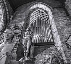 Organised Chaos (Jon_Wales) Tags: england english church statue stone ross carving bust organ herefordshire brass pipeorgan wye rossonwye