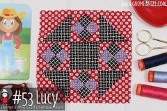 gnomeangel-farmers-wife-1930-block-53-lucy-fqs (gnomeangel) Tags: modern quilt quilting patchwork tutorial farmerswife fussycutting gnomeangel fussycuttersclub farmerswife1930