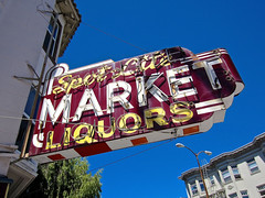 Spot Lite Market, San Francisco, CA (Robby Virus) Tags: sanfrancisco california sign corner lite store neon market spot business alcohol signage booze grocery liquors groceries convenience