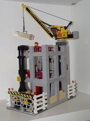 construction area 1 (salvobrick) Tags: city site construction lego crane working modular area