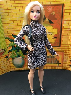 Curvy Girl in OOAK Knit Dress