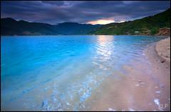 Azure (katepedley) Tags: park new blue sunset newzealand shells storm beach canon island golden evening bay waves south estuary zealand national southisland 5d inlet abel tasman abeltasman 1740mm wainui goldenbay