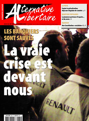 Alternative libertaire mensuel (Alternative libertaire photo) Tags: journal renault rvolution crise anarchisme banques alternativelibertaire