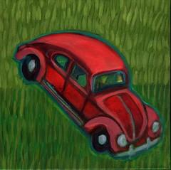 toy beetle (EllenJo) Tags: art painting 2016 acryliconcanvas localcharacter ellenjo ellenjoroberts january2016 april2016artshow oldtowncottonwoodartshow