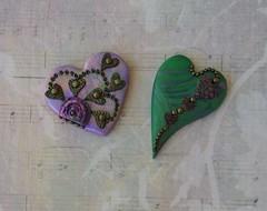 Day 4 TAD More Hearts (auntgriz) Tags: hearts handmade layered polymerclaypendants knightworkstudio heartsonheart
