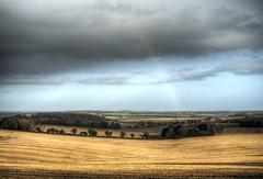 Rainbow near Farley Mount 2 (neilalderney123) Tags: cloud rain weather landscape rainbow hampshire winchester farleymount coloud 2016neilhoward