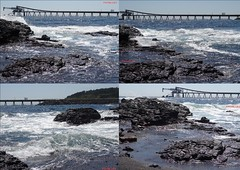 Bass Point collage (pat.bluey) Tags: basspoint shellharbour newsouthwales australia southcoast quarry ocean wavescrashing rocks pier collage 1001nights 1001nightsmagiccity
