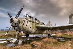 Fairey Gannet XG882 (LS Photography.) Tags: cold abandoned airplane scotland moody fife military january nopeople fairey t5 derelict raf greysky airfield gannet errol canon6d lsphotography xg882 xg889 xa463