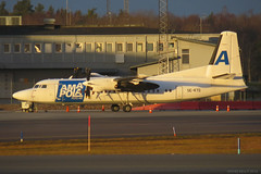 SE-KTD Amapola Fokker 50 ESSA 31/1/16 (David K- IOM Pics) Tags: airport stockholm aircraft cargo 50 essa flyg airliner arlanda f50 fokker arn amapola sektd