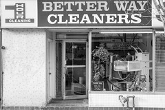 Better Way Cleaners (L_) Tags: blackandwhite bw toronto shop store storefront queenstreet shopfront queenstreeteast topw501