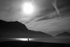Lago di Lugano (SinoLaZZeR) Tags: blackandwhite bw lake nature schweiz switzerland tessin blackwhite ticino europa europe fuji finepix fujifilm schwarzweiss lugano     x100